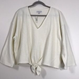 NWT Madewell TeXTURE & THREAD 2X Tie Front Shirt